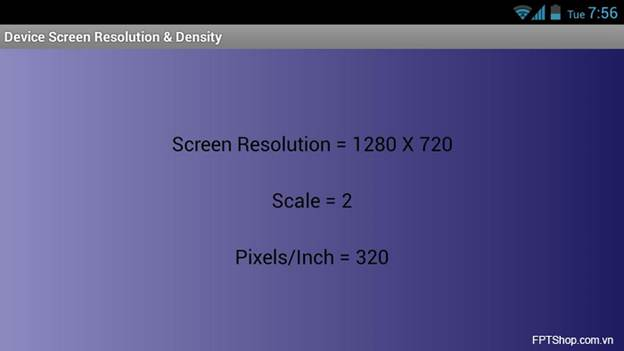 Screen Resolution & Density