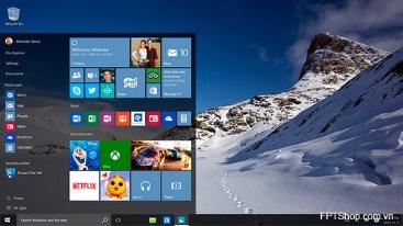 Giao diện Windows 10 Pro