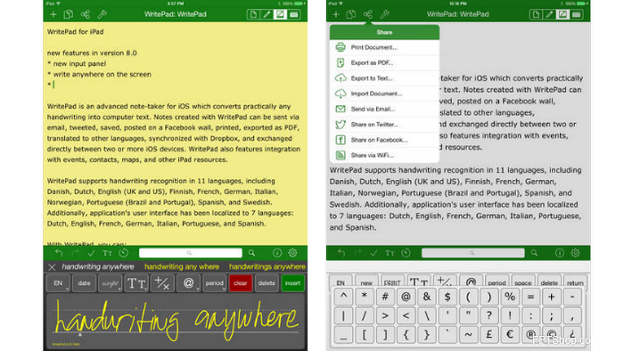 WritePad for iPad ($7.99)