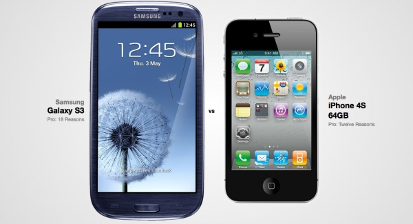 Galaxy S3 hay iPhone 4s