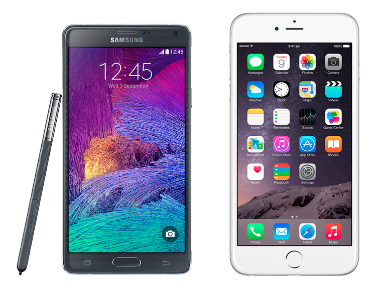 iPhone 6 Plus và Galaxy Note 4