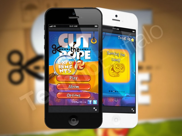 game Cut the Rope trên iPhone 4s