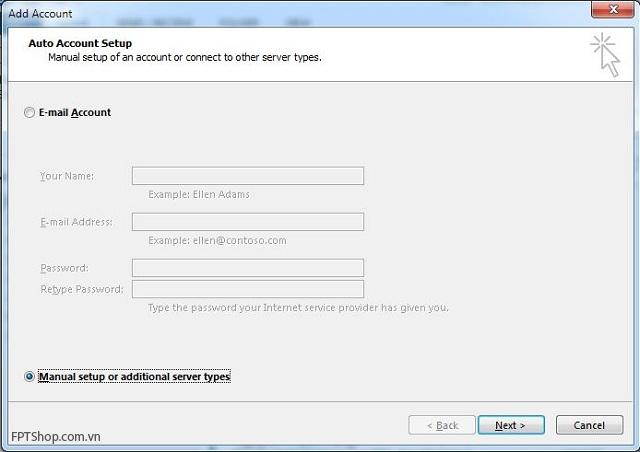 Hướng dẫn cài mail công ty, outlook trên Windows