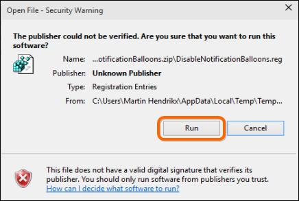 Hướng dẫn xóa bỏ những thông báo trên Windows