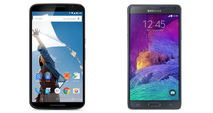 Nexus 6 vs Samsung Galaxy Note 4