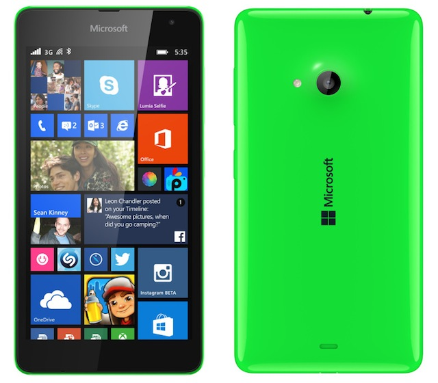 thiết kế của Microsoft Lumia 535