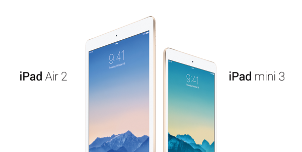 ipad air 2 và ipad mini 3