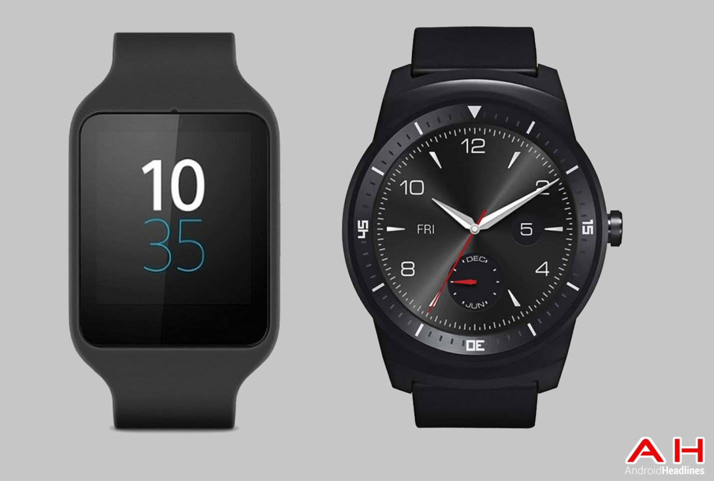 Sony SmartWatch 3 với LG G Watch R