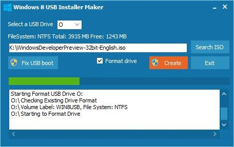 phần mềm Windows 8 USB Installer Maker