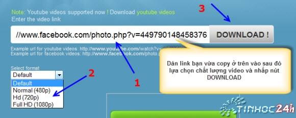 Download tải video từ facebook về