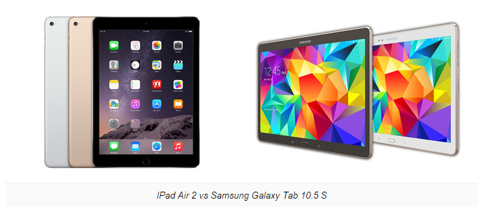 iPad Air 2 và Galaxy Tab S 10.5