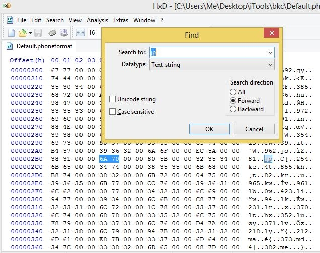 Giao diện Hexeditor HxD