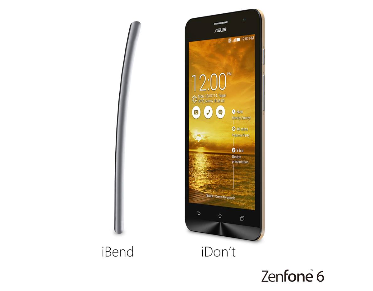 iPhone 6 Plus bị cong bên cạnh Zenfone 6