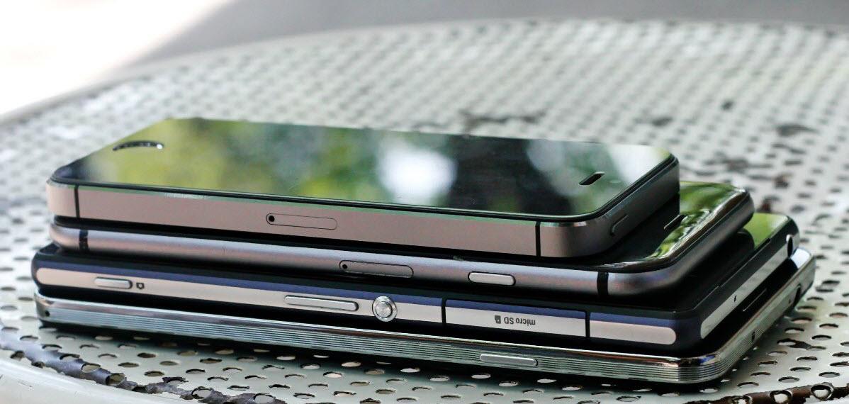 iPhone 6 so độ mỏng với các Smartphone khác