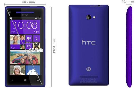 HTC One Windows Phone 8X
