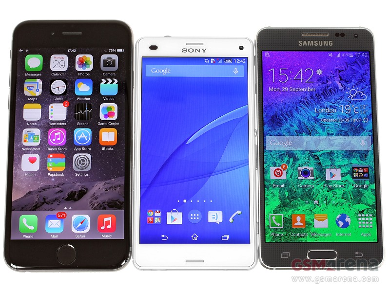 Sony Xperia Z3 Compact vs iPhone 6 vs Samsung Galaxy Alpha
