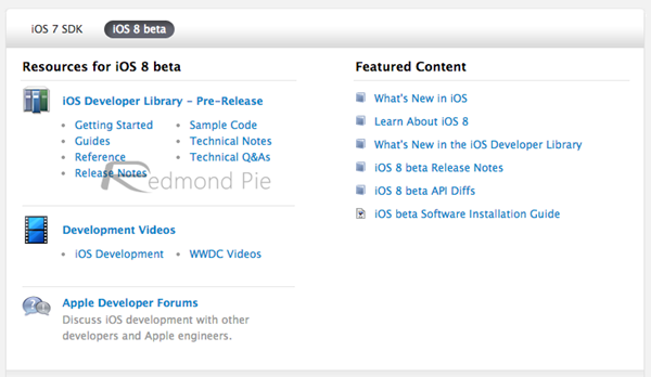resource for ios 8 beta