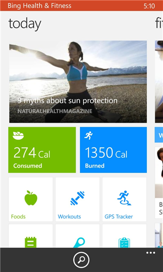 Bing Health & Fitness