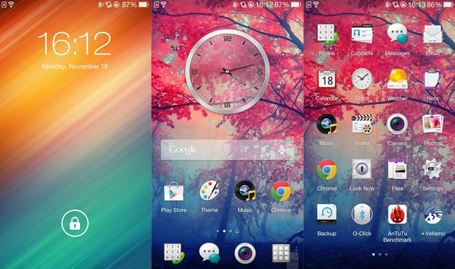 Giao diện Oppo Find 5 mini