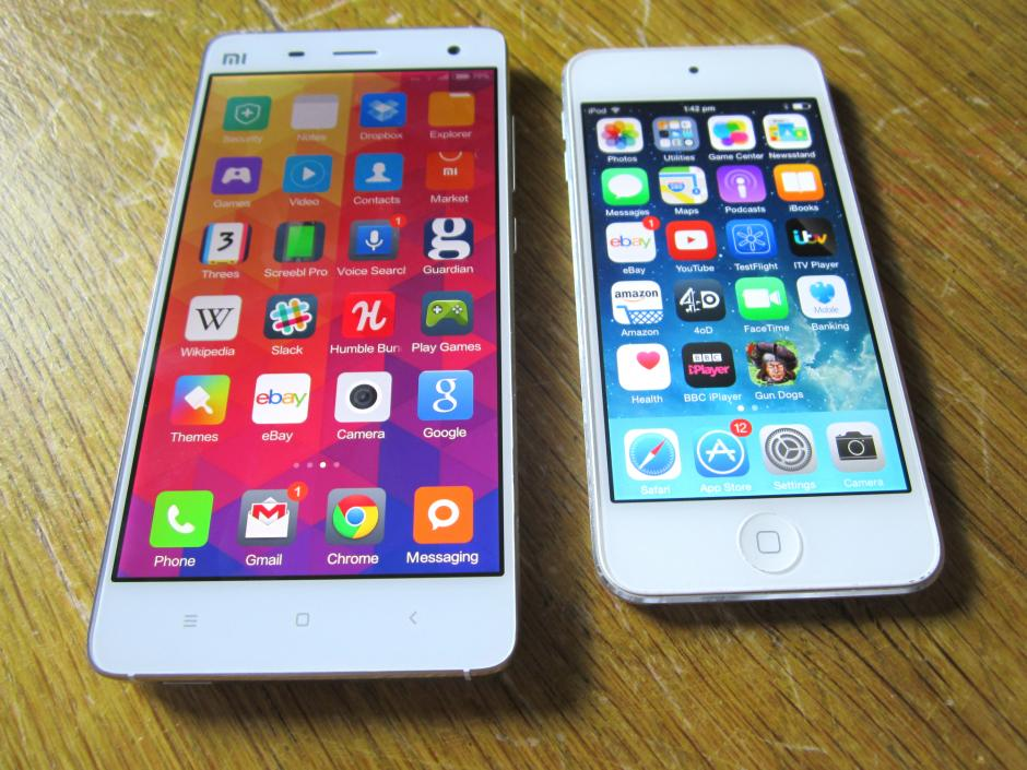 Xiaomi Mi4 vs iPhone 5