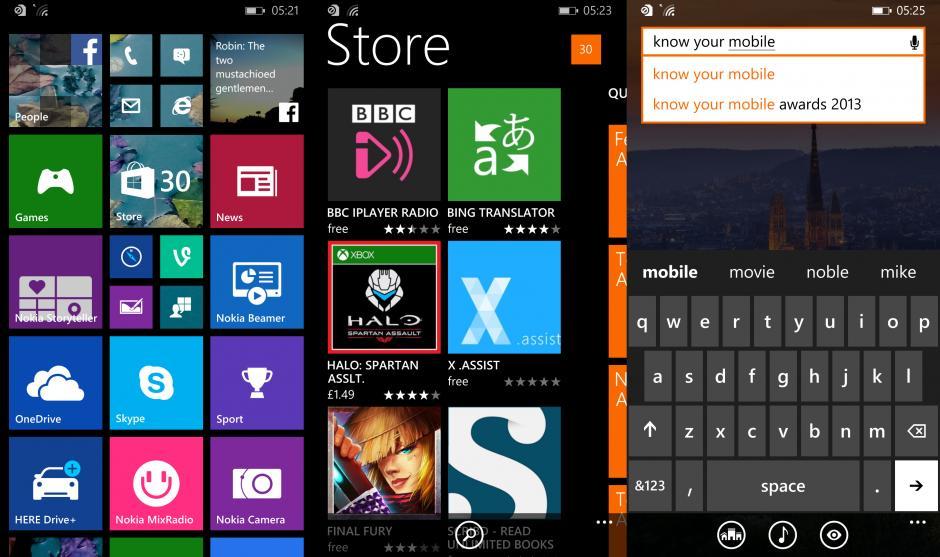 Giao diện trên Nokia Lumia 930