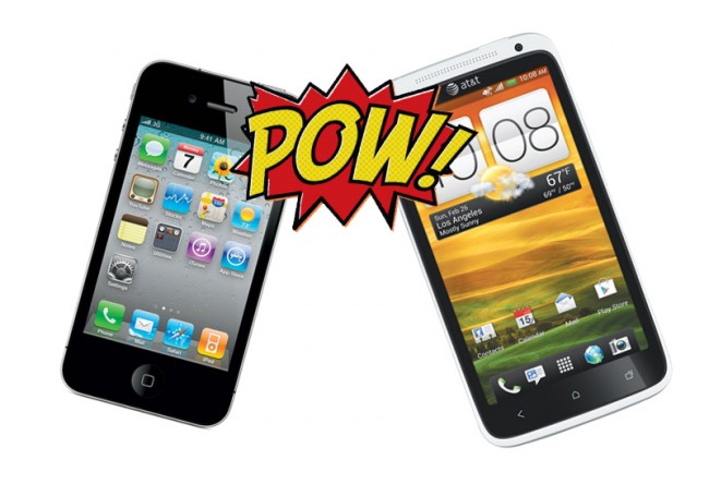 thiết kế iphone-4s-vs-htc-one-x