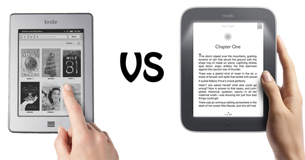 Nook Simpel Touch vs kindle touch