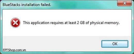Khắc phục và sửa lỗi không đủ RAM khi cài đặt Bluestacks