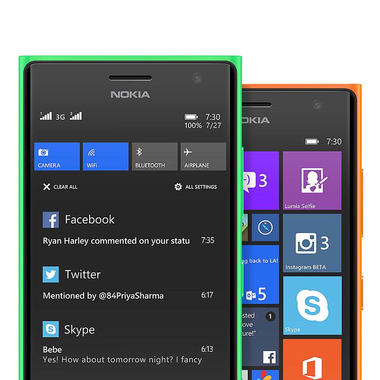 Nokia Lumia 730 hai SIM