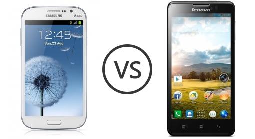 Lenovo P780 và Samsung Galaxy Grand Duos I9082