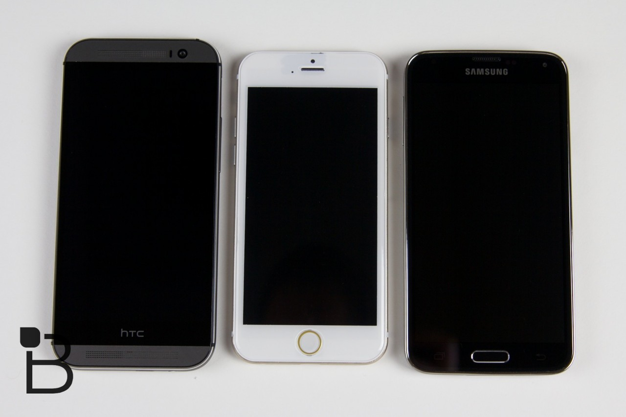 iPhone 6 vs Galaxy S5 và One M8