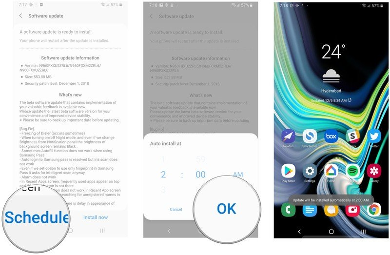 update android cho samsung galaxy
