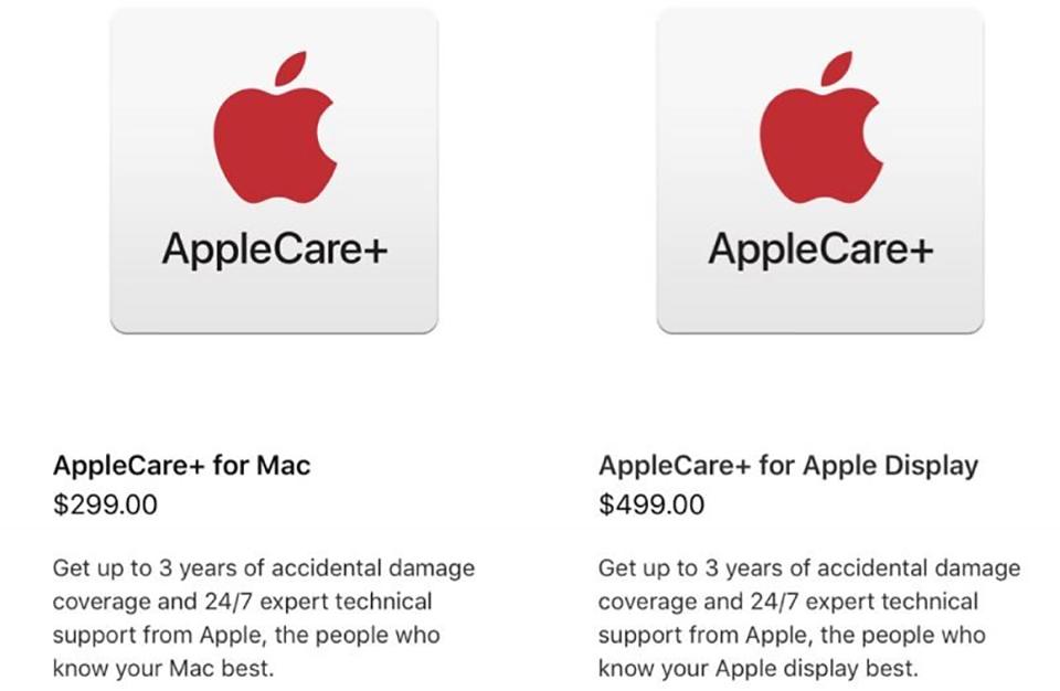 Gói bảo hành mở rộng AppCare+ cho Mac Pro 2019 và Pro Display XDR
