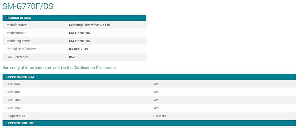alaxy Note 10 Lite được phát hiện trên trang web chứng nhận GCF