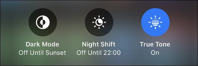 Bật Dark Mode, Night Shift hoặc True Tone
