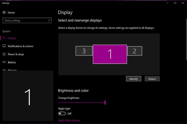 Truy cập vào mục Display settings để cài đặt