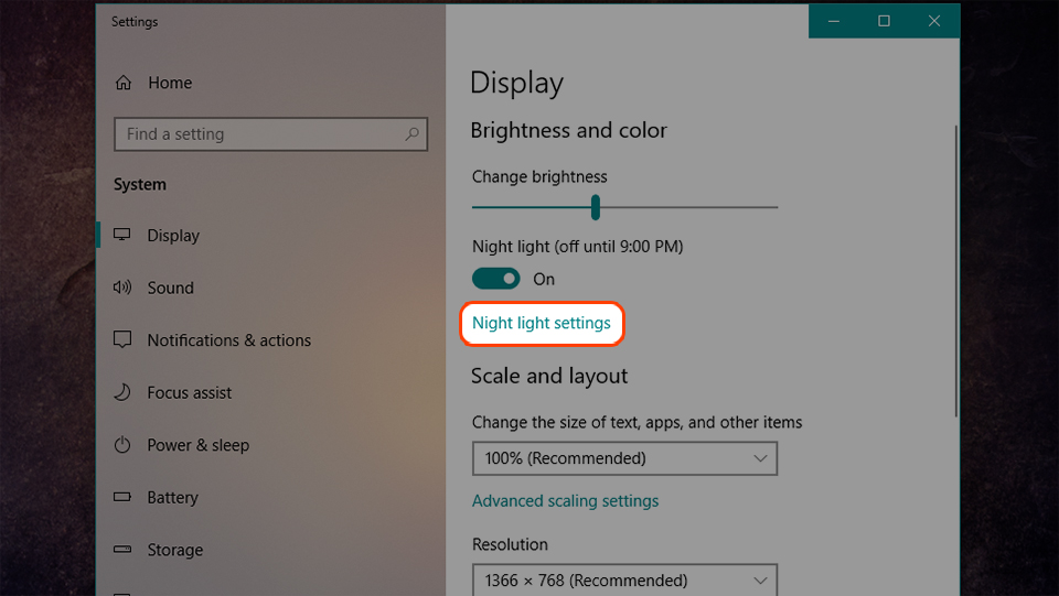 Cách sử dụng chế độ lọc ánh sáng xanh trên Windows 10 (Ảnh 4)
