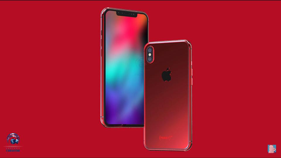 Concept iPhone X và X Plus màu đỏ tuyệt đẹp (ảnh 3)