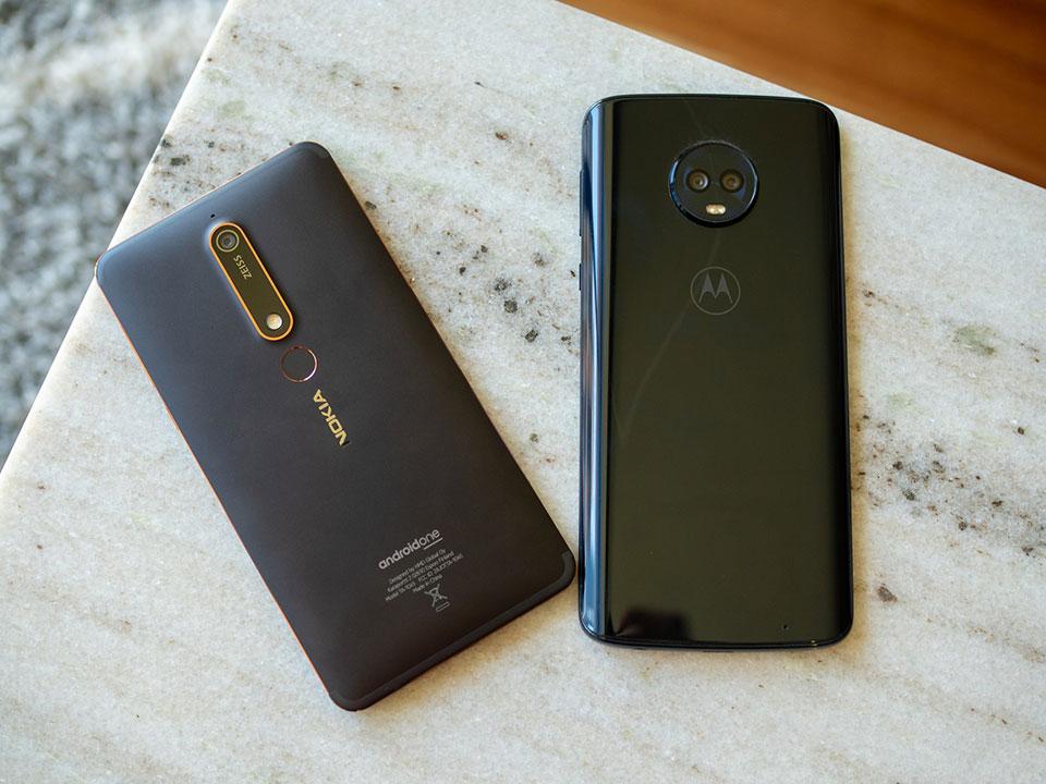 So sánh Nokia 6 2018 với Moto G6 Plus