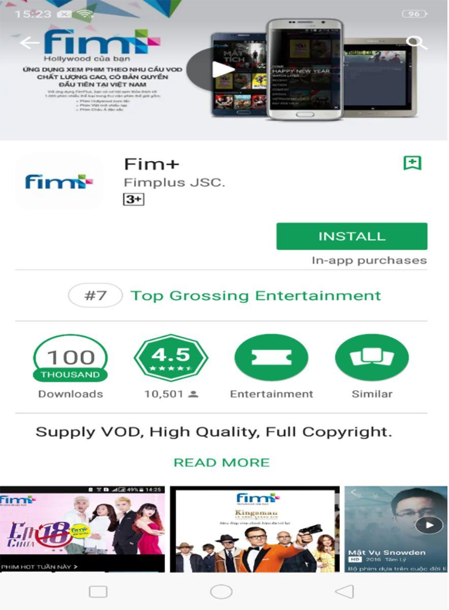 FPT Shop tặng thêm gói Fim+ chuẩn 3 tháng cho khách mua OPPO F9