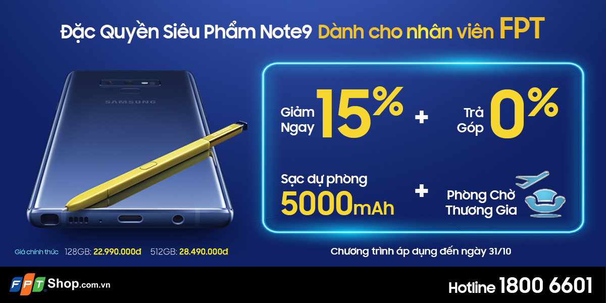 Note9 người FPT