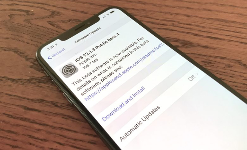 Apple phát hành iOS 12.1.3 beta 4