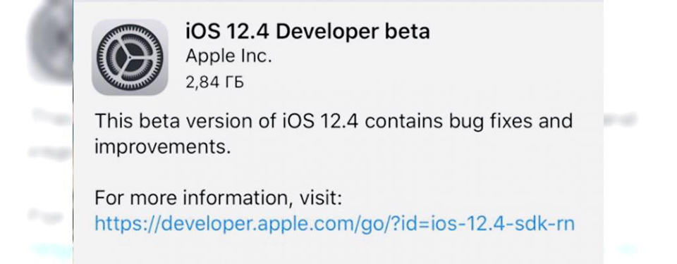 Apple phát hành iOS 12.4 beta 1