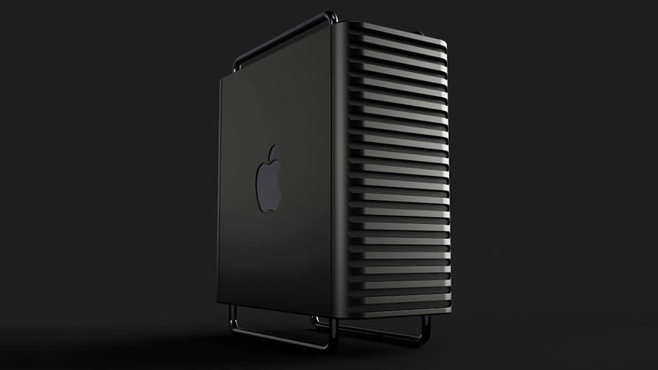 Hình ảnh Mac Pro 2020 với lưới tản nhiệt đen sang trọng 1