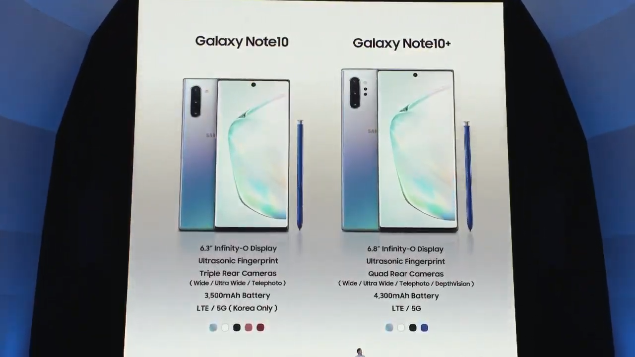 pin Galaxy Note 10